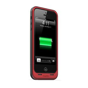 Mophie Juice Pack Air Coque de protection avec batterie intégrée pour iPhone 5 - Rouge