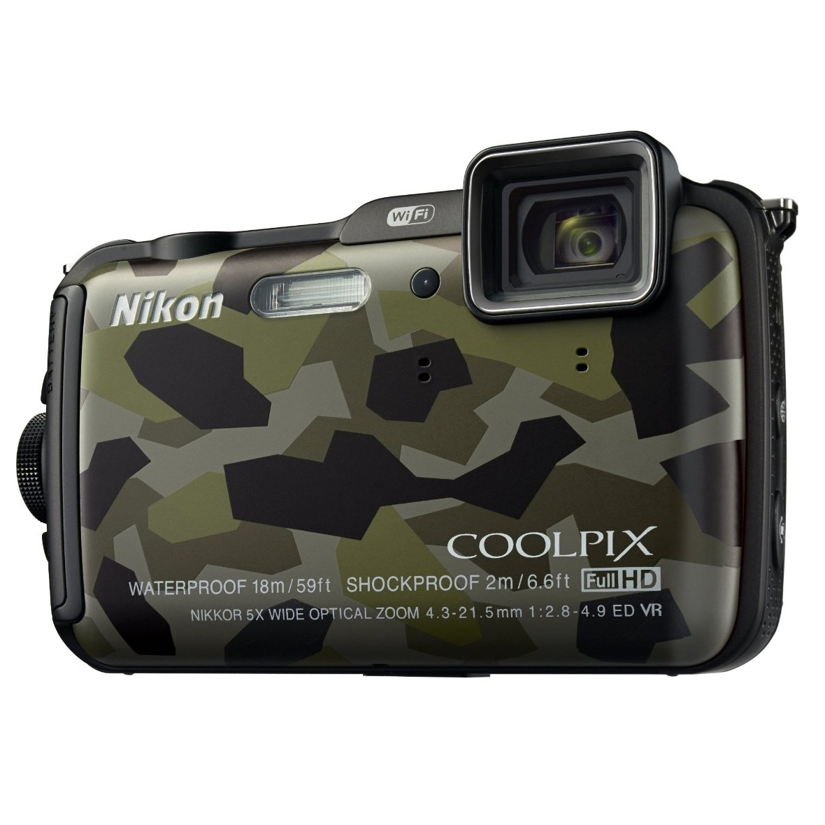 Nikon Coolpix AW120 Outdoor Digital Camera - Camouflage