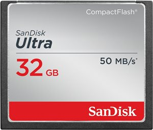 SanDisk 32GB 50MB/s Ultra Compact Flash Memory Cards