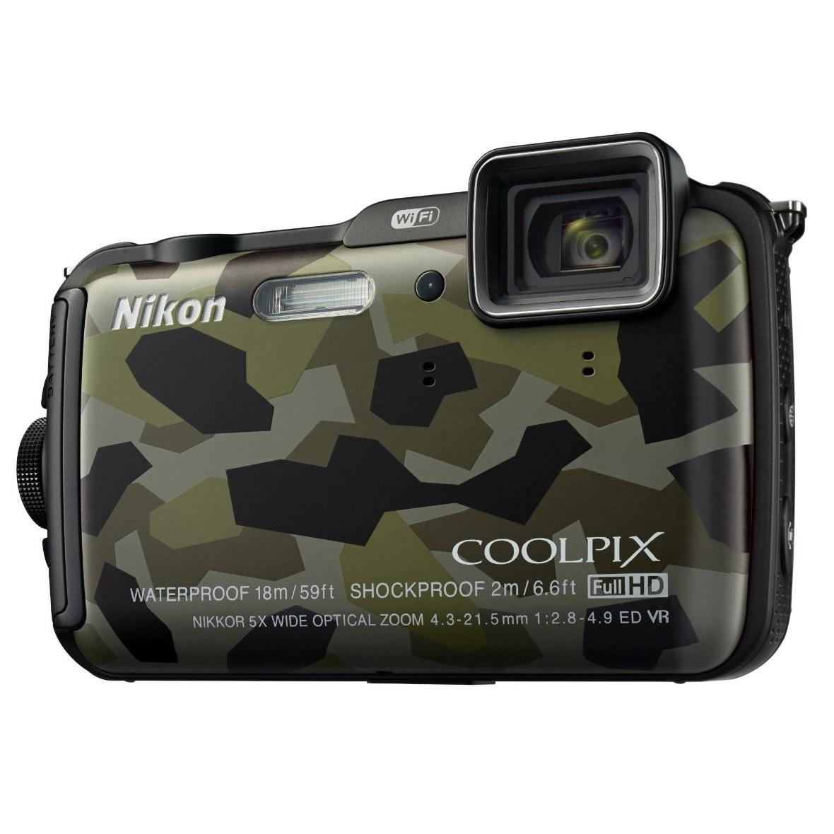 Nikon Coolpix AW120 Outdoor Digital Camera - Camouflage